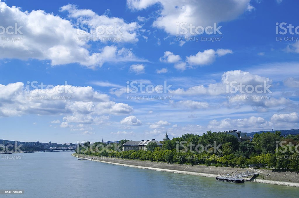 view at Margaret Island stock photo
