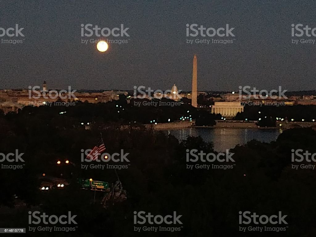 DC View at Night stock photo