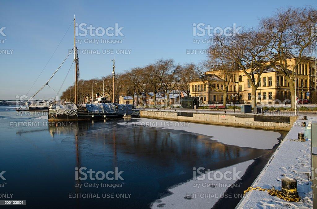 View at Norr Malarstrand in Stockholm stock photo