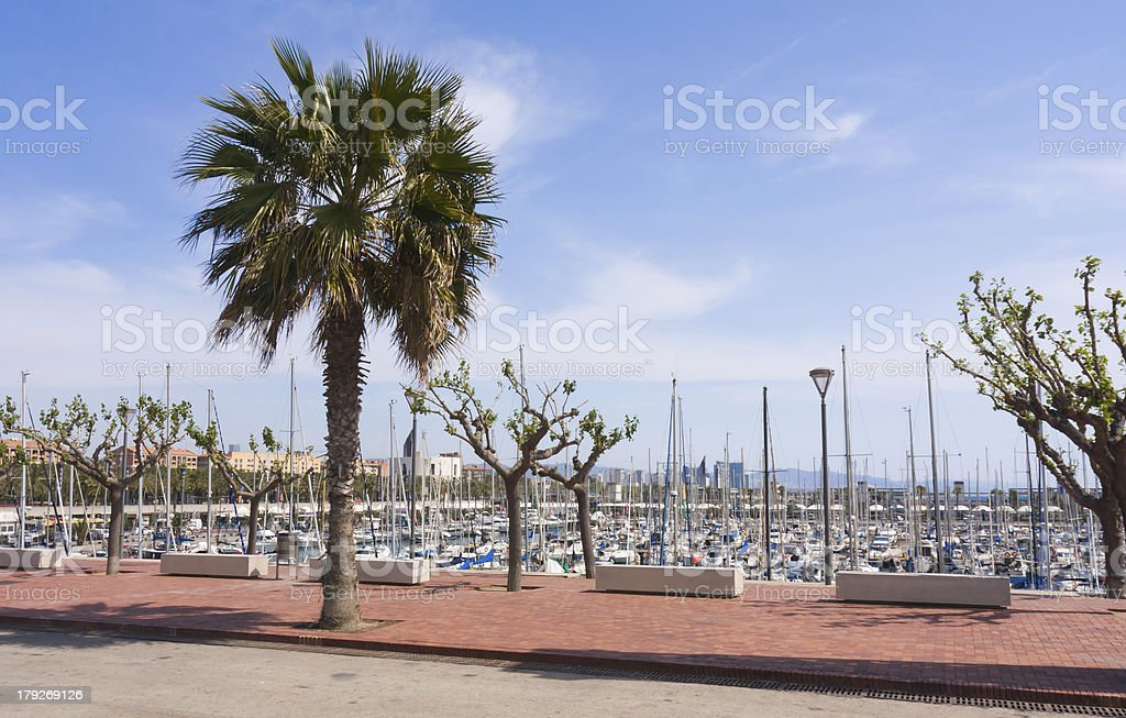View at olympic port of Barcelona royalty-free stock photo