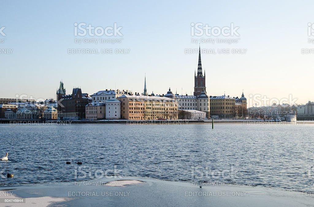 View at Riddarholmen in Stockholm stock photo