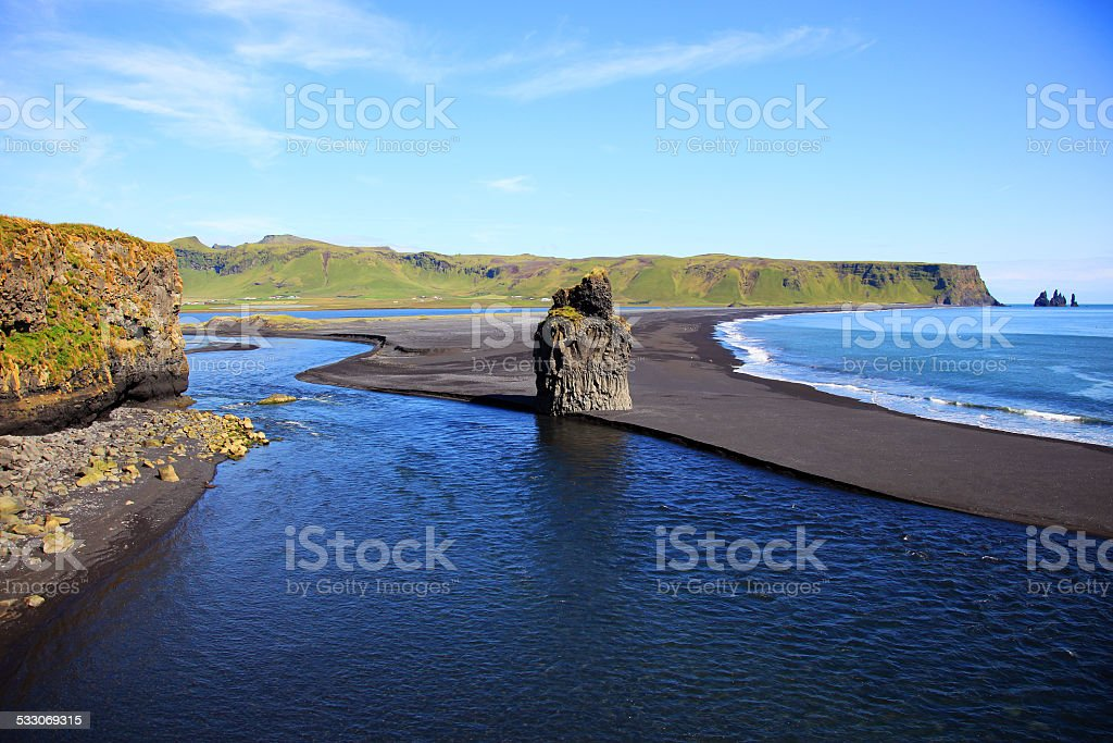 View at sea landscape in Iceland stock photo