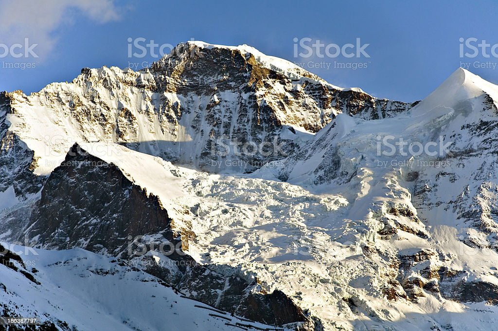 View at Swiss Alps landscape from Jungfraujoch royalty-free stock photo