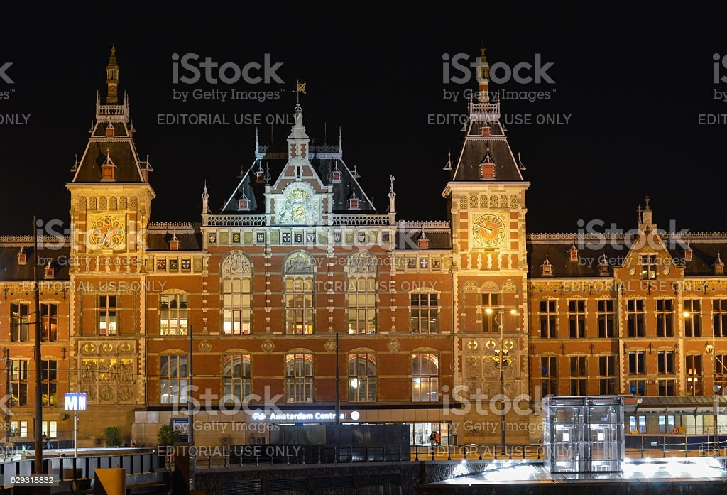 View at the Amsterdam Centraal station stock photo