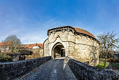 View at the city gate in Rothenburg