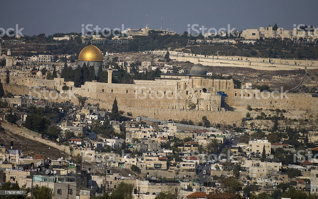 View at the Jerusalem Old City royalty-free stock photo