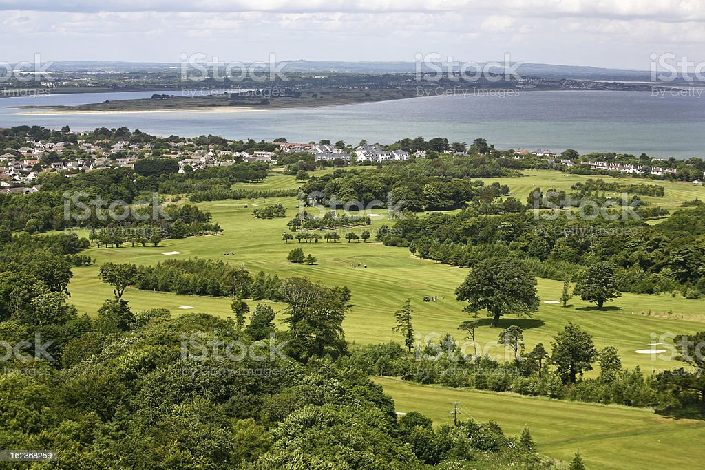 View at the northern part of Dublin stock photo