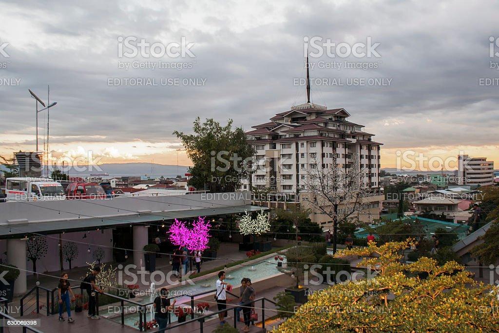 View at The Peak in Gaisano Mall of Davao stock photo