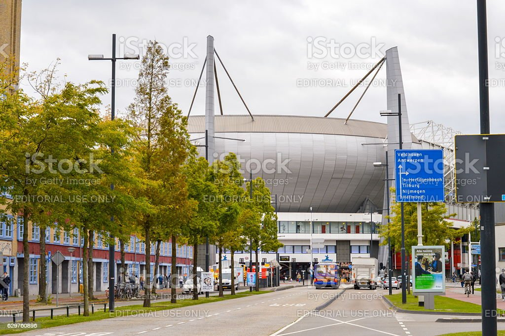 View at the Philips Stadium, Eindhoven stock photo