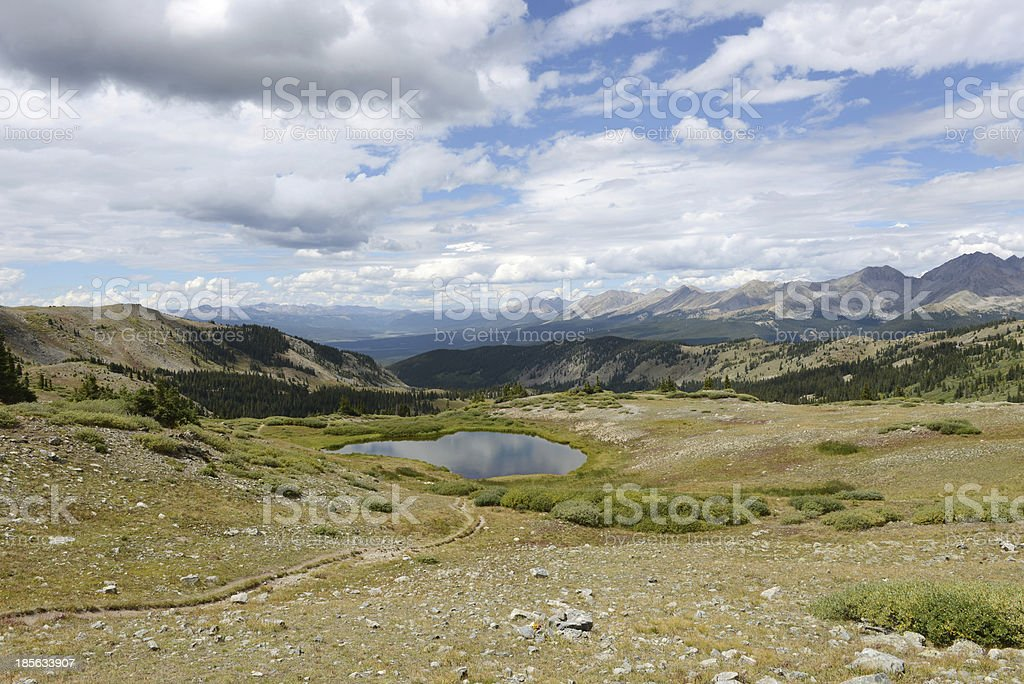 View at The Summit of Cottonwood Pass stock photo