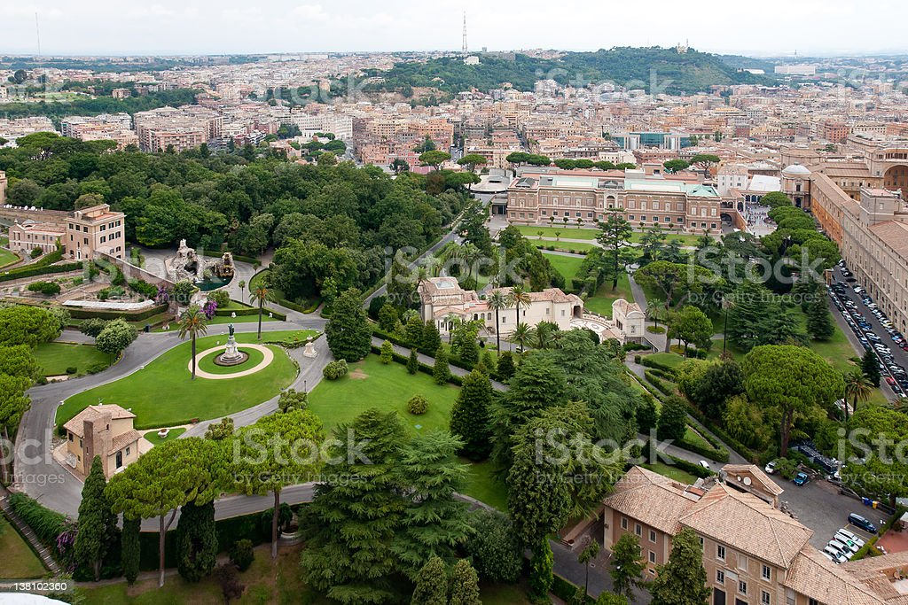 View at the Vatican Gardens royalty-free stock photo