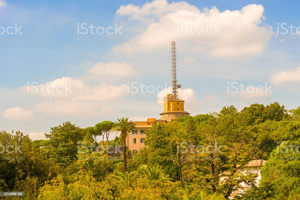 View at the Vatican radio stock photo