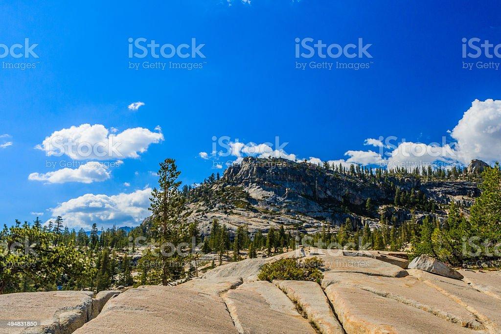 View at Tioga Pass, Yosemite National Park, Sierra Nevada, USA stock photo