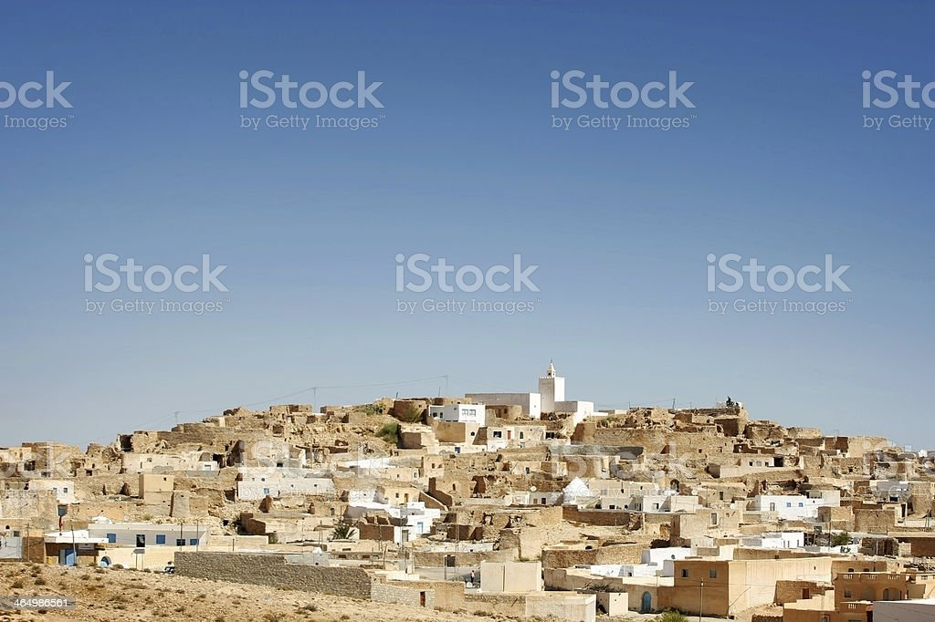 View at village Tamezret stock photo