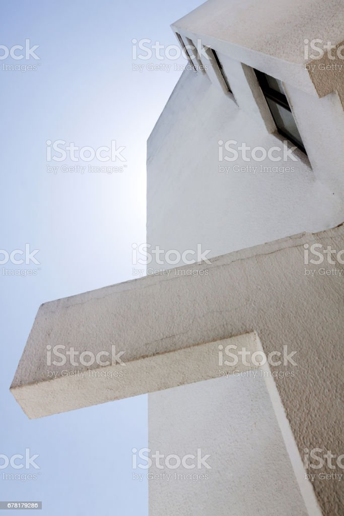 view at white building stock photo