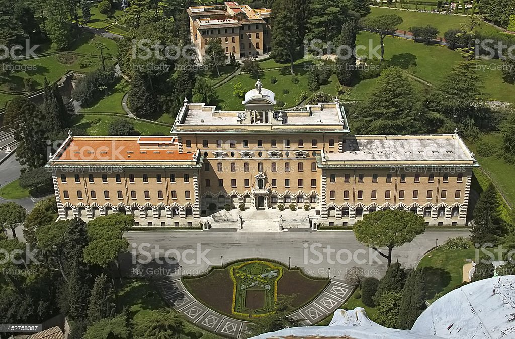 View city from the top of Saint Peter's Basilica royalty-free stock photo