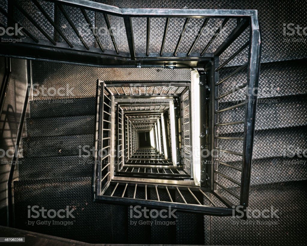 View Down a Stairwell stock photo