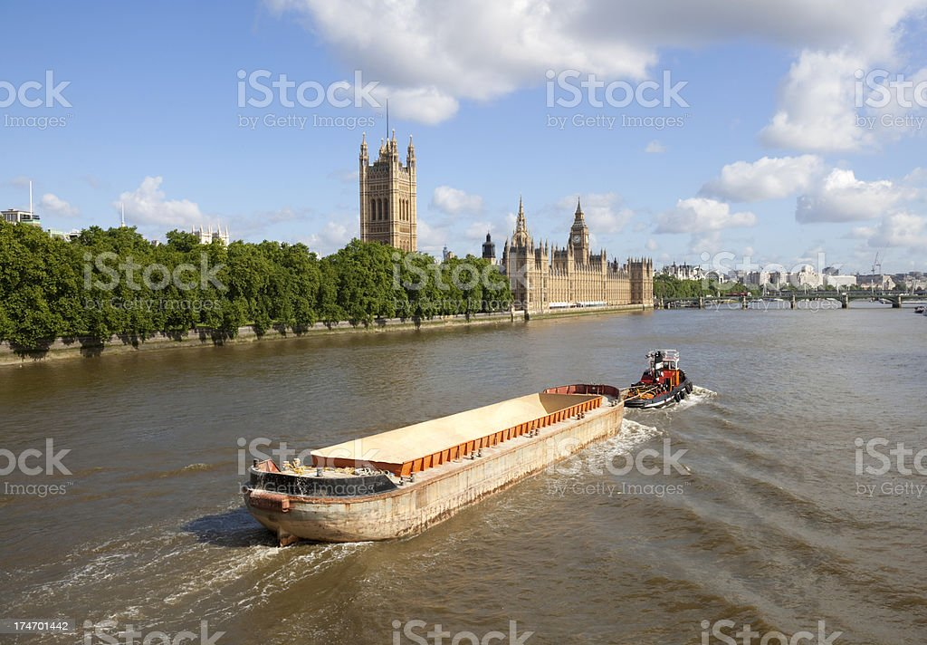 View Down The Thames royalty-free stock photo