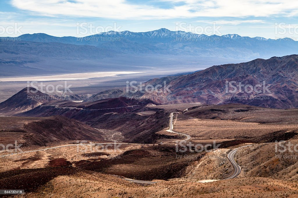 View East From Father Crowley Point, Death Valley National Park royalty-free stock photo