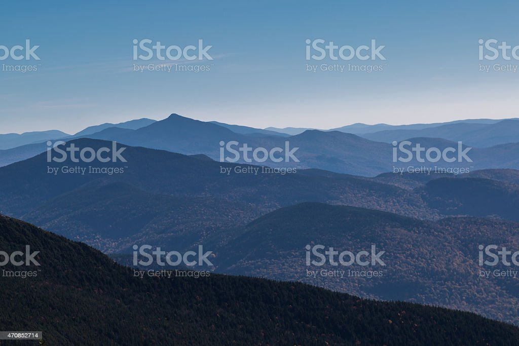 View fom Mount Mansfield stock photo