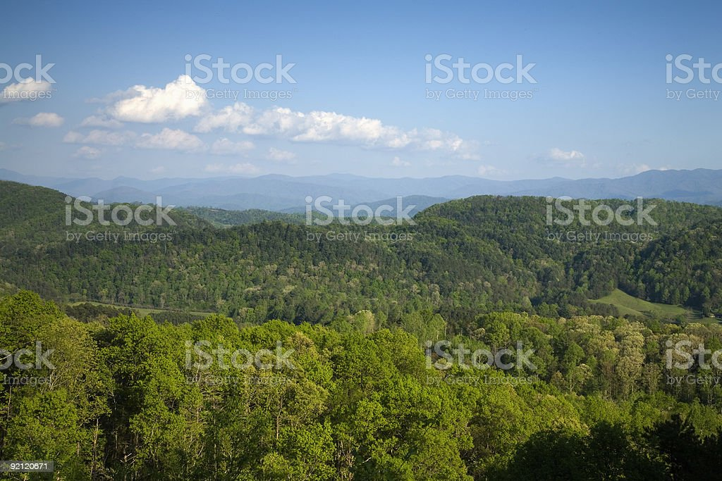 View, Foothills Parkway, East TN stock photo