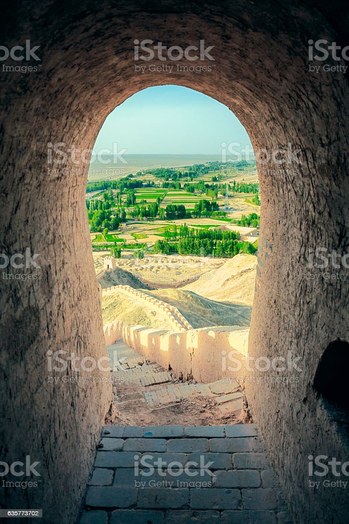 View Form Inside Of the Tower, Ming Great Wall stock photo