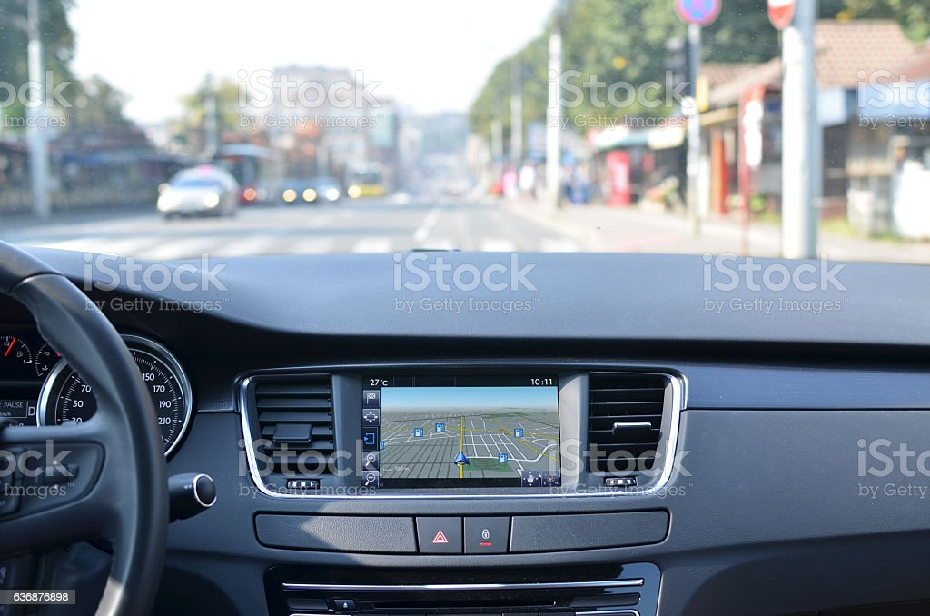 View from a Car stock photo