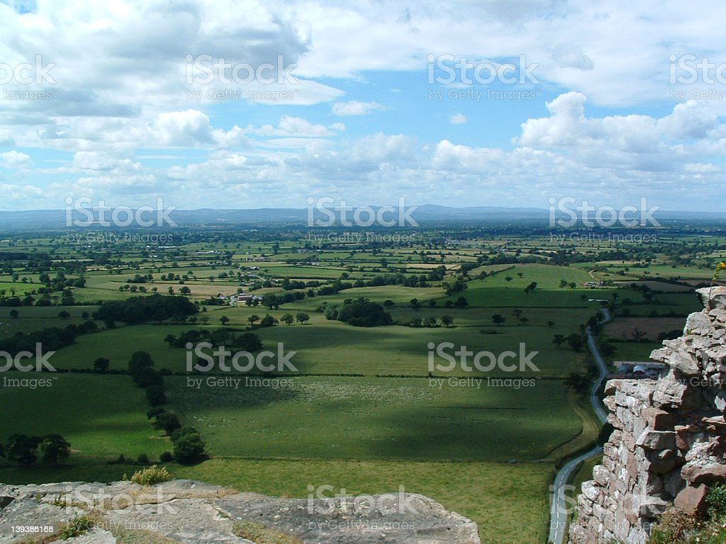 View From a castle in UK stock photo