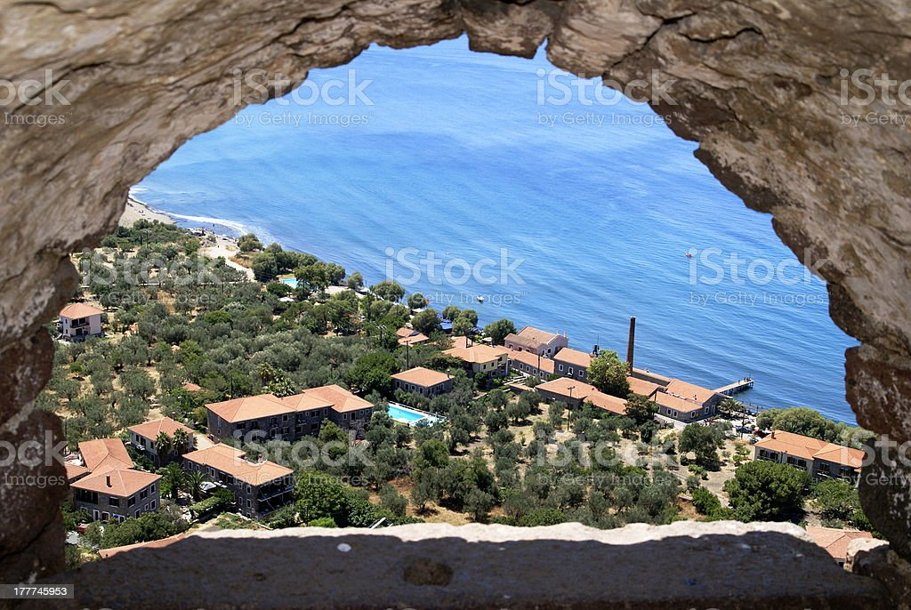 View from a castle royalty-free stock photo