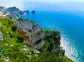View from a cliff on the island of Capri, Italy