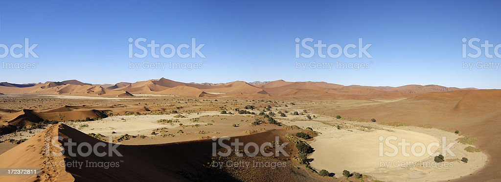 View from a dune royalty-free stock photo