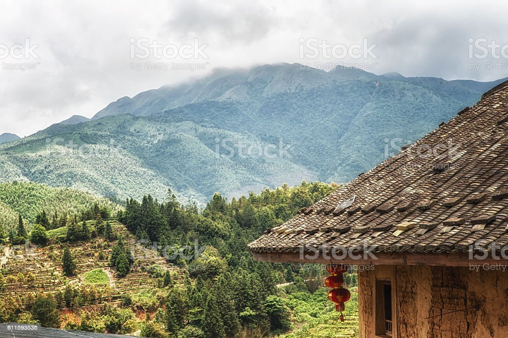 View from a Hakka House stock photo
