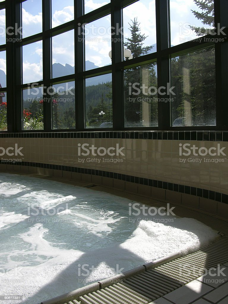 View from a jacuzzi stock photo