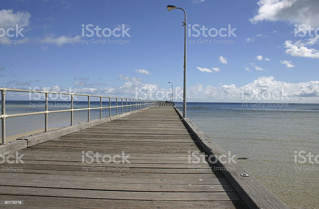 view from a pier royalty-free stock photo