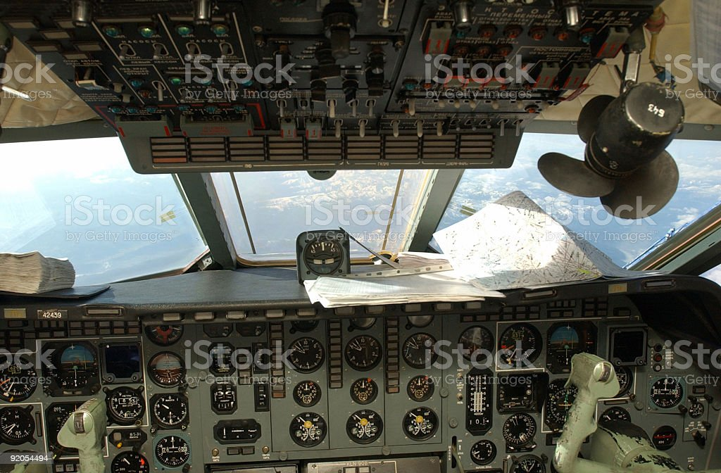 View from a pilots place royalty-free stock photo