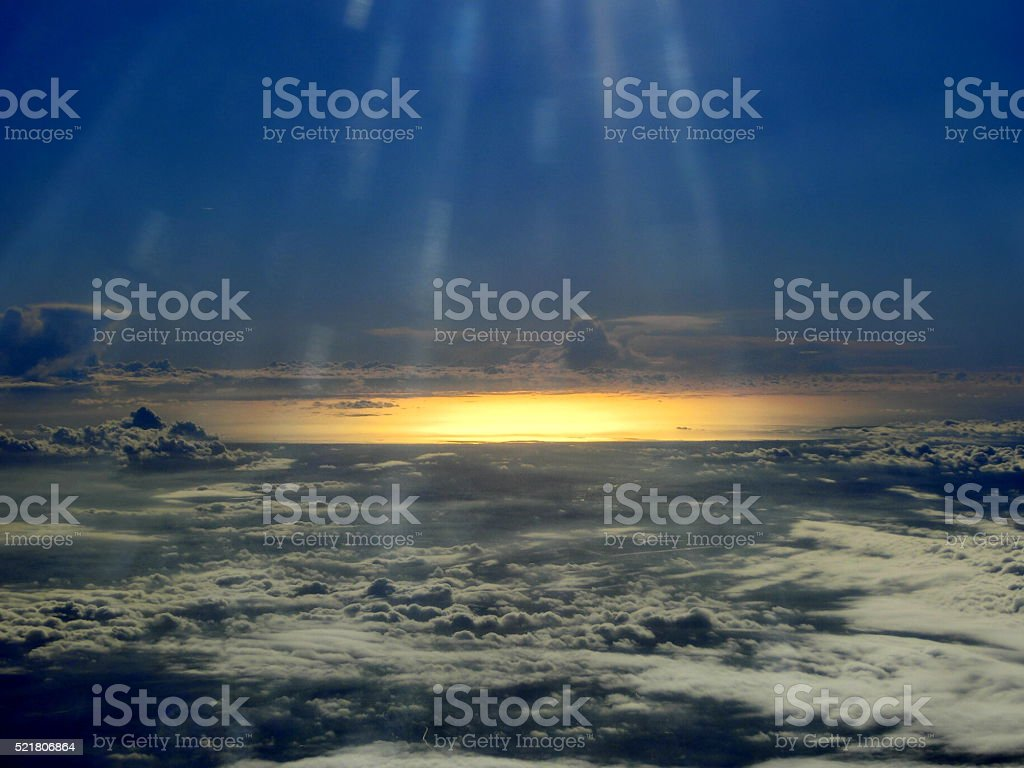 View from a plane stock photo