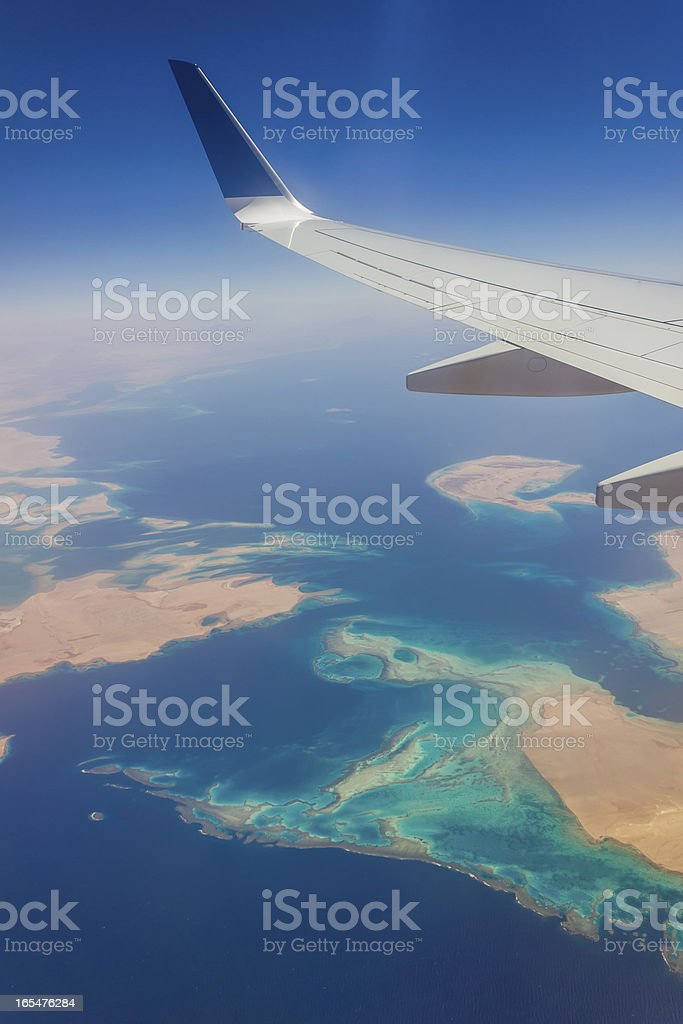 View from a plane window royalty-free stock photo