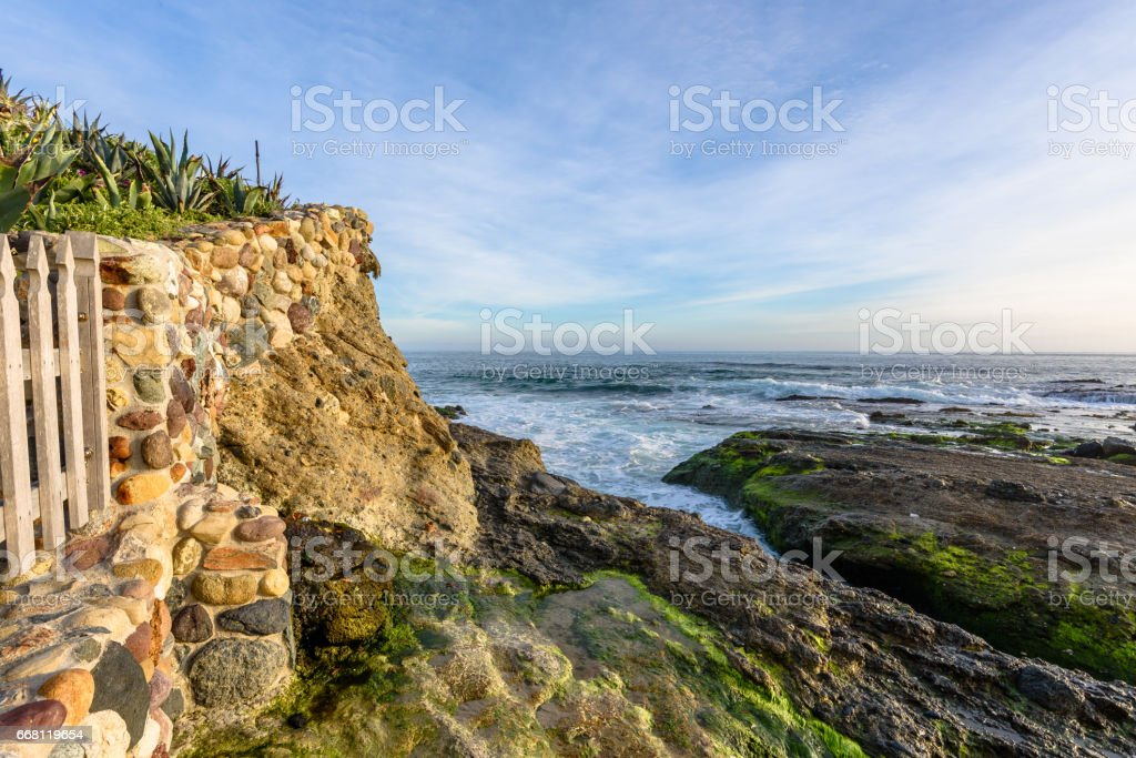 View From a Southern California Beach House stock photo