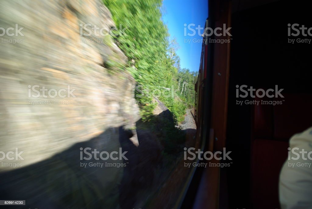 View from a train stock photo