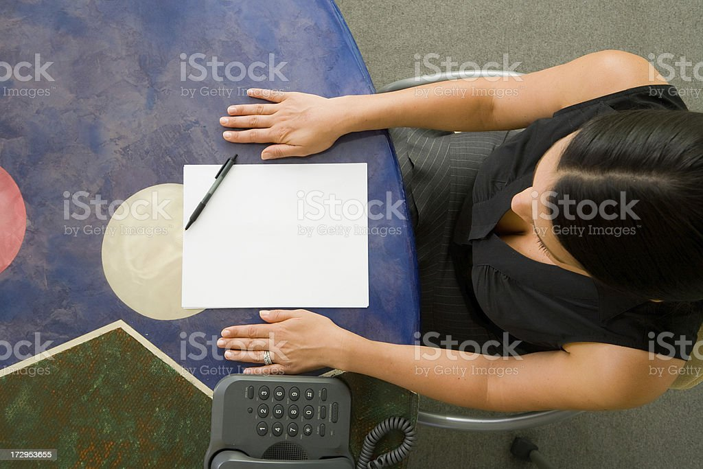 View from above of a customer service representative royalty-free stock photo