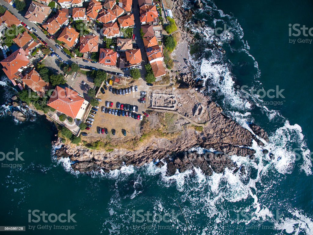 View from above of  Sozopol, Bulgaria stock photo