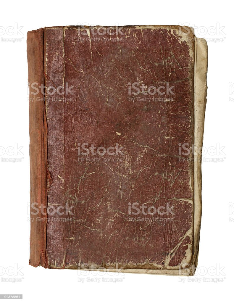 view from above on old book stock photo