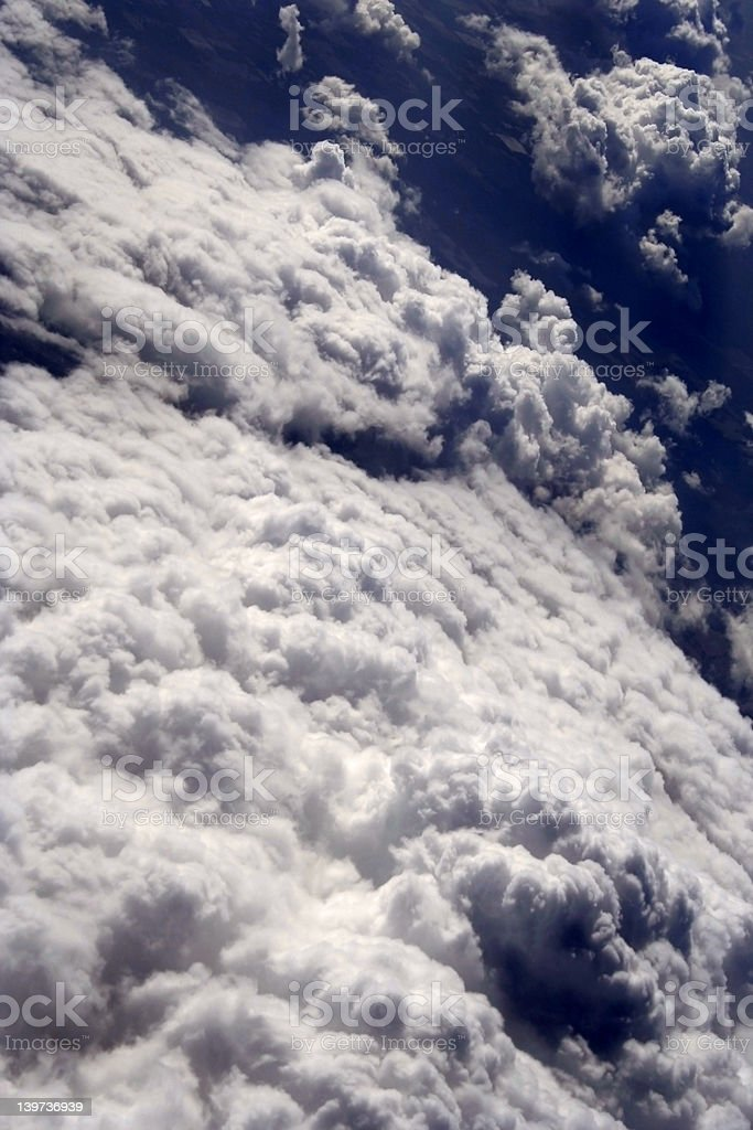 View from above, swirling clouds royalty-free stock photo