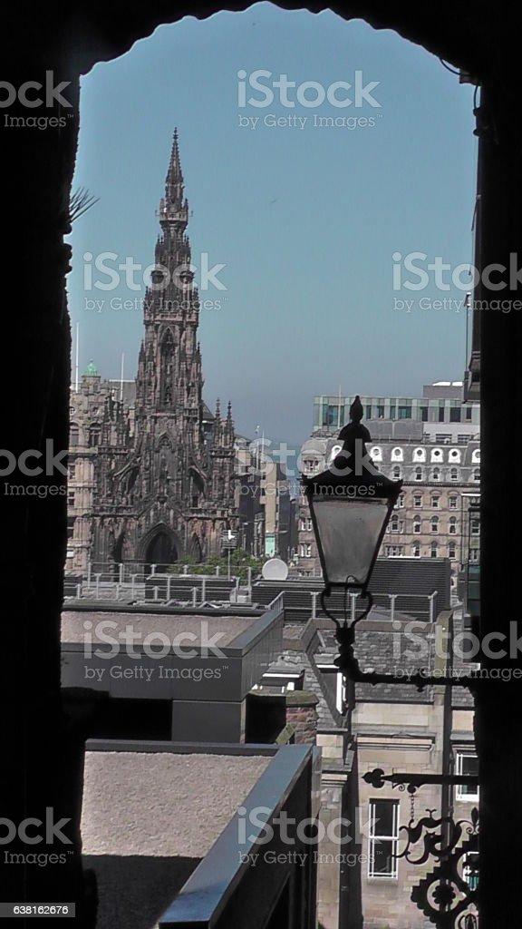 View from Advocate's Close, Edinburgh, Scotland stock photo
