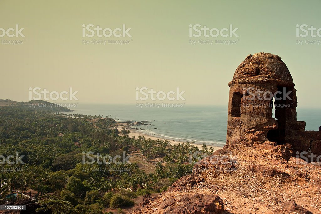 View from Aguada Fort stock photo