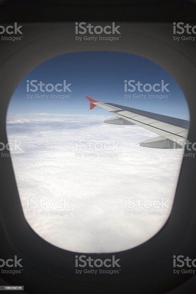 View from airplane stock photo