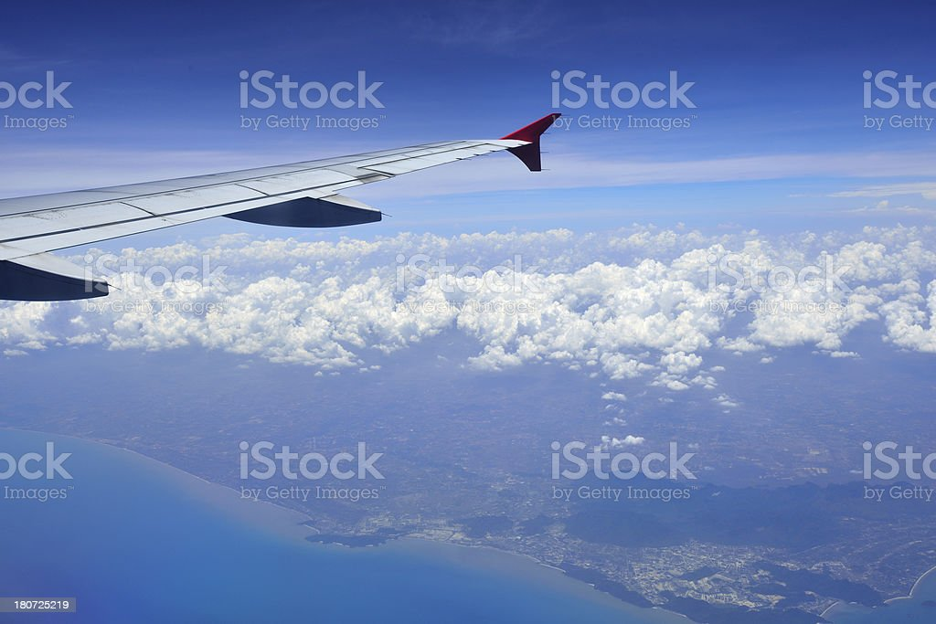 View from airplane royalty-free stock photo