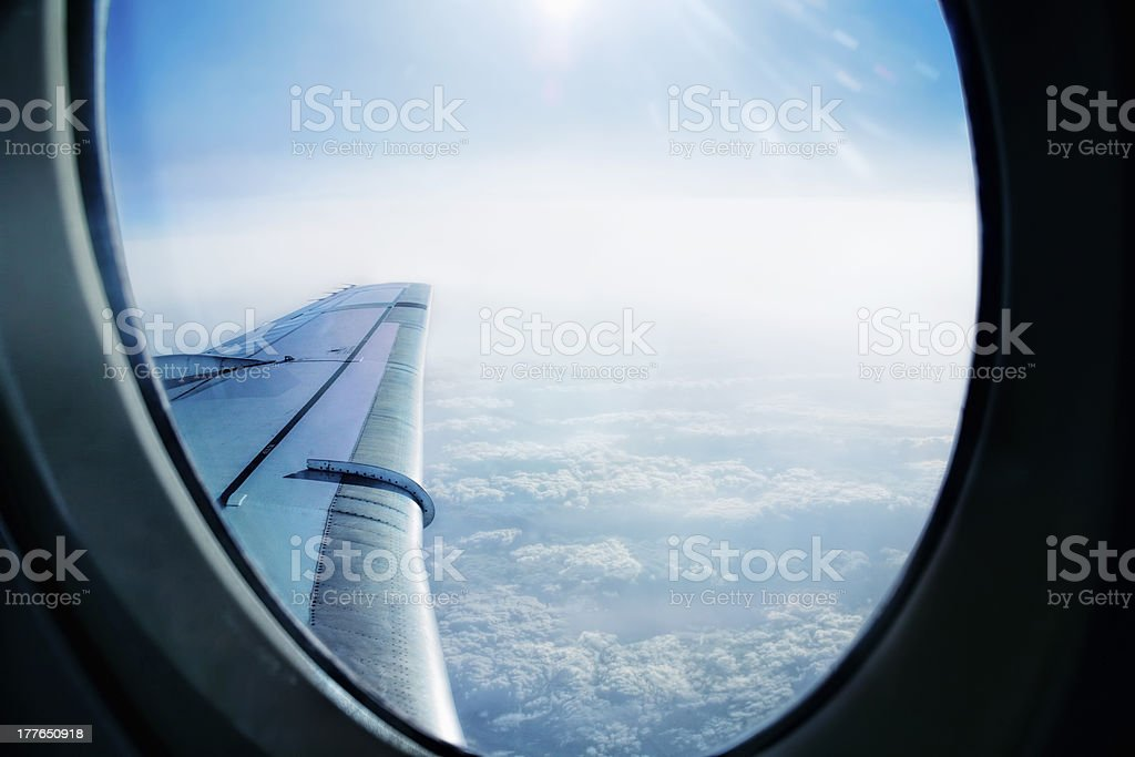 View from airplane window royalty-free stock photo