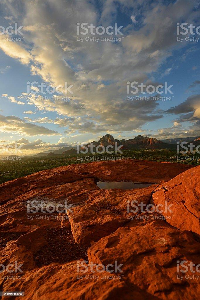View from Airport Vortex in Sedona, Arizona stock photo