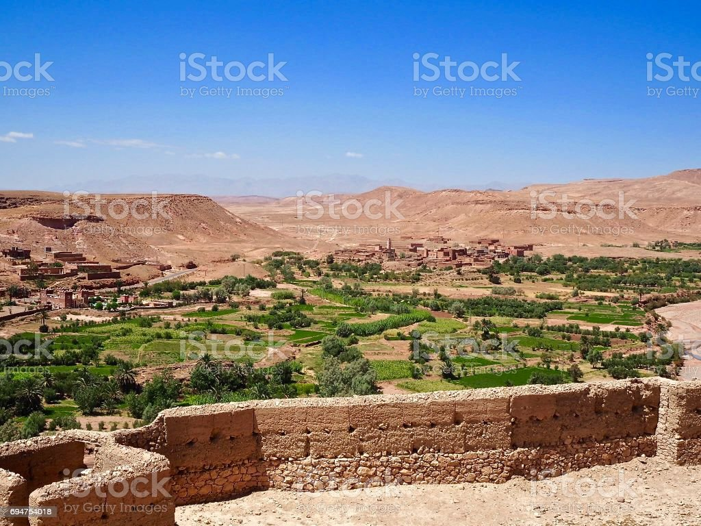 View from Ait Benhaddou, Morocco stock photo